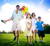 Family Activity Outdoors Picnic Relaxation Concept Royalty Free Stock Image