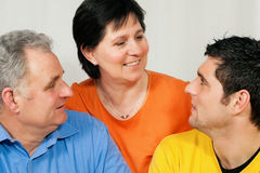 Family with adult son Royalty Free Stock Photo