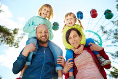 Family Adventure at Carnival Royalty Free Stock Images