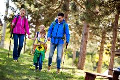 Family adventure day royalty free stock photography