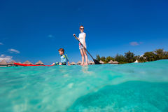 Family adventure holidays Stock Photography