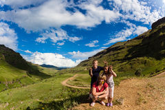 Family Adventure Mountains Royalty Free Stock Images