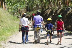 Family Adventure Vacations Stock Photo