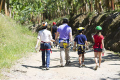 Family Adventure Vacations Royalty Free Stock Photos