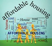 Free Family Affordable Housing Stock Image - 126357561