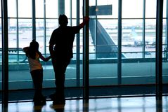 Family airport royalty free stock photos