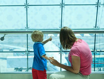 Family in the airport Royalty Free Stock Image