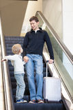 Family at airport Stock Photography
