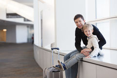 Family at the airport Royalty Free Stock Photos