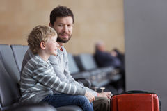 Family in airport Royalty Free Stock Images