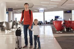 Family at airport Stock Photos