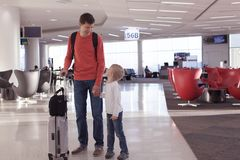 Family at airport Royalty Free Stock Photo