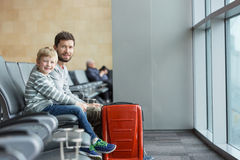 Family at airport Royalty Free Stock Photo