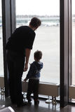 Family at airport Stock Photos