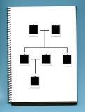 Family album. Genealoy tree - photographys - family album royalty free stock photography