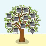 Family album. Tree with frames for your photos. stock illustration