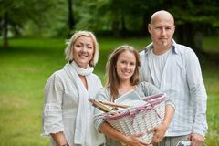 Family All Set For An Outdoor Picnic Royalty Free Stock Photos