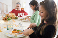 Family All Together At Christmas Dinner Royalty Free Stock Photo