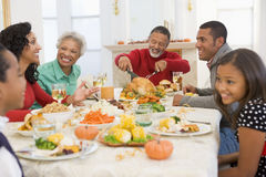 Family All Together At Christmas Dinner Royalty Free Stock Photography