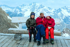 Family in Alp mountain (Austria) Stock Images