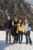 Family in the alps Stock Photography