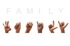 Family American Sign Language Royalty Free Stock Photo