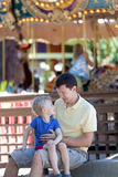 Family at amusement park Stock Image