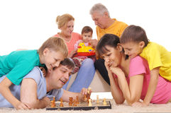 Family And Chess Stock Images