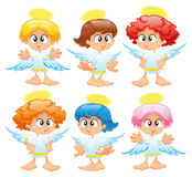 Family of angels royalty free stock images
