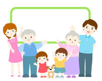 Family announcement character design  illustration Royalty Free Stock Image