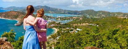 Family at Antigua Caribbean Royalty Free Stock Photography