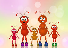 Family of ants Royalty Free Stock Photos