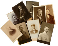 Family Archive photos. Family Archives: old photos shows the genealogy royalty free stock photography