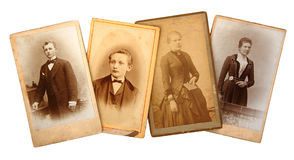 Family Archive photos. Family Archives: old photos shows the genealogy stock photo