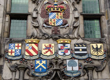 Family arms on building Stock Image