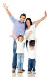Family with arms up Stock Photography