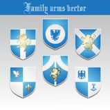 Family arms vector Royalty Free Stock Photography