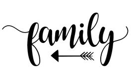 Family arrow Royalty Free Stock Image