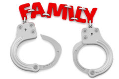 Family as limiter of freedom Royalty Free Stock Images