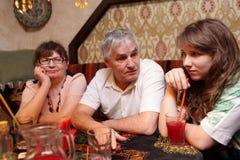 Family in asian restaurant Stock Images