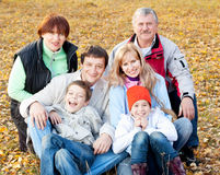 Family in autumn Stock Photo