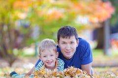 Family at autumn Stock Photos