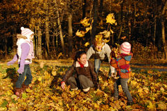 Family autumn fun Royalty Free Stock Photos