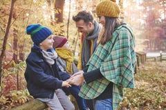 Family during autumn Royalty Free Stock Photo