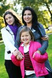 Family in autumn park Royalty Free Stock Image