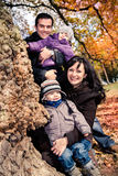 Family in the autumn park Royalty Free Stock Photos