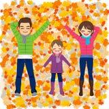Family Autumn Park Stock Image