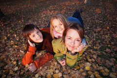 Family autumn portrait Royalty Free Stock Photography