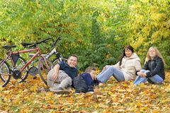 Family - Autumn Walk Stock Photos
