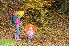 Family in autumnal nature Stock Photo